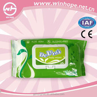 Eco friendly alcohol-free antibacterial spunlace baby wet wipes