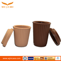 High quality best price logo printed silicone custom coffee cup with lids