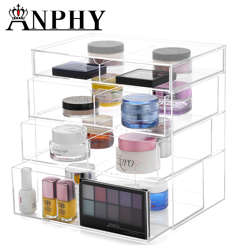 ANPHY C132 4 Layers Storage Clear Makeup Organizer Cosmetic Acrylic Display Case