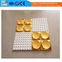 Building material colorful decorative water proof pvc 3d wall board