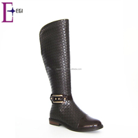 women latest no heel knee high boots footwear