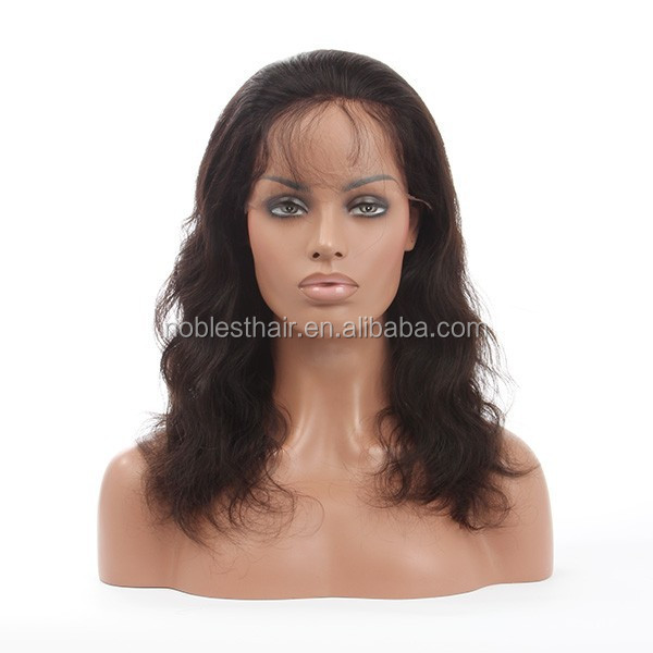 High density 130% human hair unprocessed wholesale grade 7a natural wave lace front wigs for black women