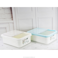 Taizhou Hengming PP wholesale household plastic rice box with flip lid