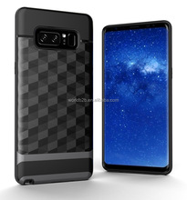 Hybrid TPU+ PC Silicone Shockproof Dustproof Bumper Case Cover for Samsung Galaxy Note 8
