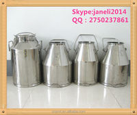 Stainless steel bucket for transport,storage milk