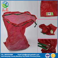 red 50x80 vegetable mesh bag for packing 40kg potatoes