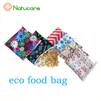 Natucare Reusable Cotton Snack Food Packaging Bags, Sandwich Bag Pouch