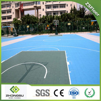 ZSfloor Synthetic portable basketball court plastic flooring