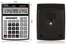 Fashion 16-Digit Office Desktop Calculator with 000 Keyboard Kalkulator Dual Power Electric Calculator