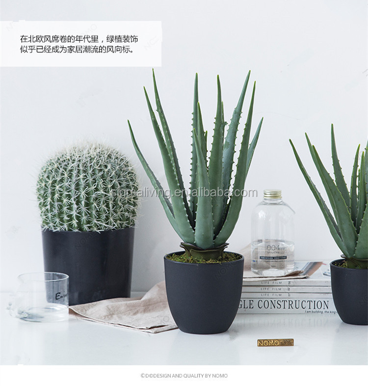 New arrival Nordic wind indoor decorative artificial aloe potted plants for sale