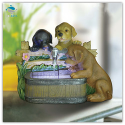 Decorative items for living room three dogs indoor ball fountain Home decoration