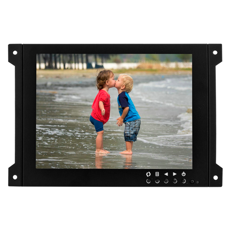 Industrial grade metal case cctv monitor 7 inch Wall mounted small screen cctv mini monitor