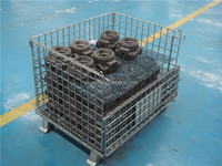 Collapsible Steel Wire Mesh Container for Industrial Warehouse Rack