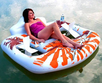 Inflatable Swimming Pool Chair Float With Hand Petal