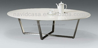 X01 modern white oval coffee table