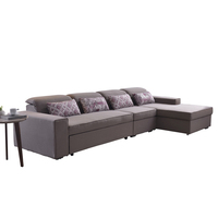 Hot lazy boy sleeping fabric home furniture cheap sectional sofa