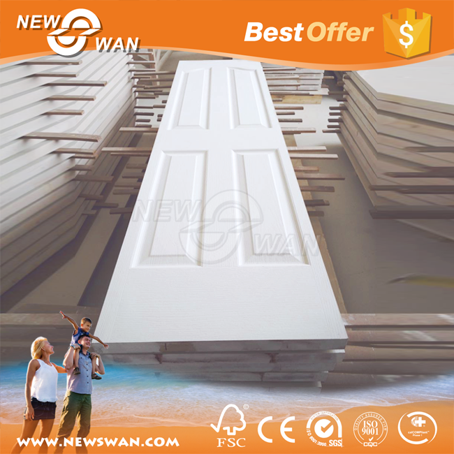 White primer HDF door skin / HDF moulded door