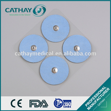 Manufacturer supplier CE certificated fabric backing reusable safety tens pads ECG Electrode