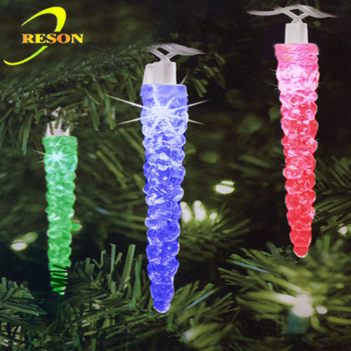 20 Battery Operated Musical Twinkling Multi-Colored LED Icicle Christmas Lights
