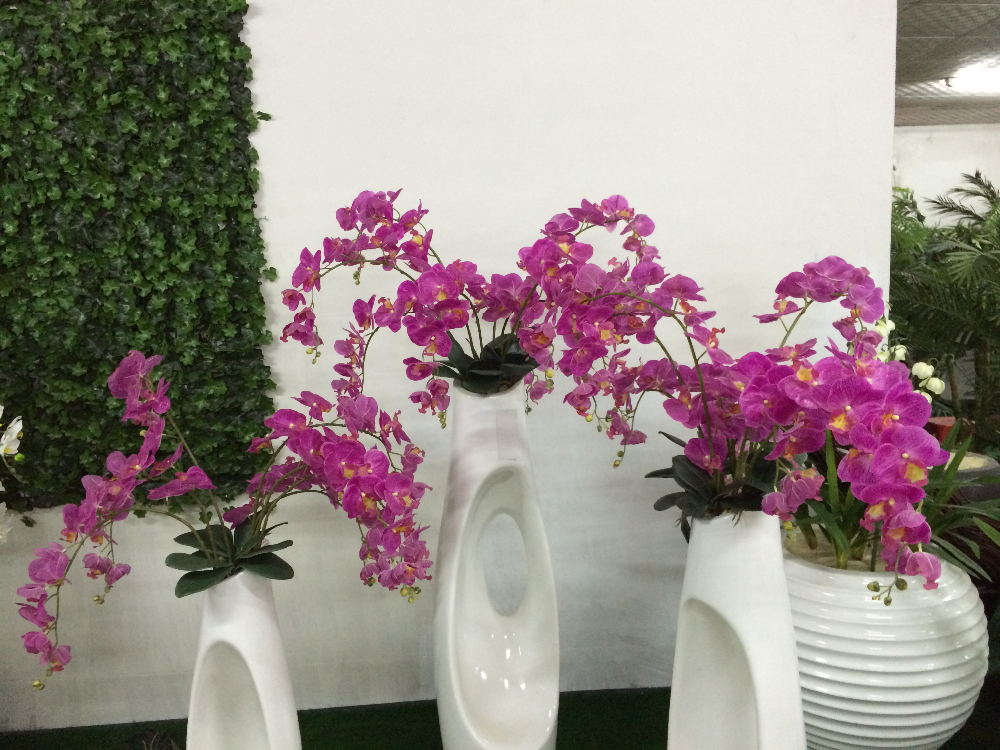 Wholesale artificial orchid plants for hotel decoration silk flower bonsai