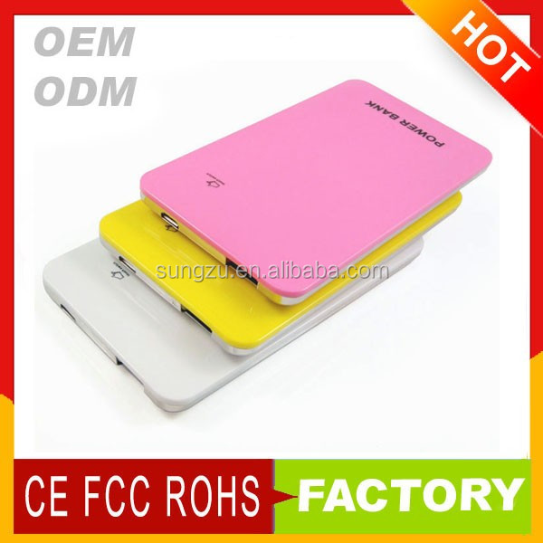 2016 high quality power bank 6000 mah Shenzhen Manufacturers Exporters on alibaba