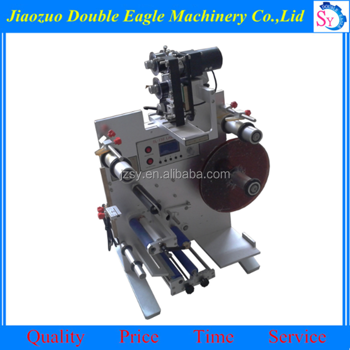 Low price Semi-automatic rolling roller type labeling machine for round / flat / square bottles