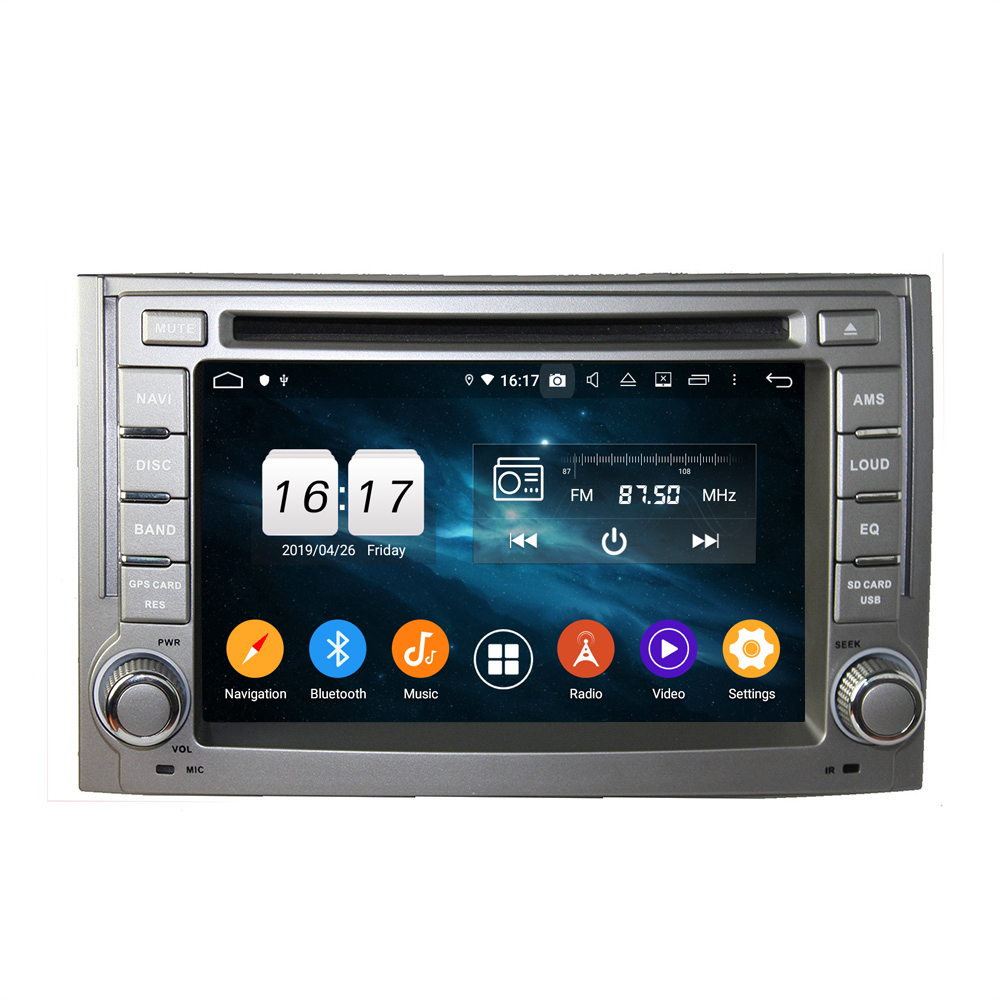 KD-6224 android 9.0 octa core BC6 bluetooth car auto multimedia dvd player for <strong>H1</strong> 2011-2012 with mirror link dsp touch screen