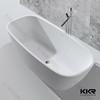 Oval shape white freestanding faux stone portable bathtub