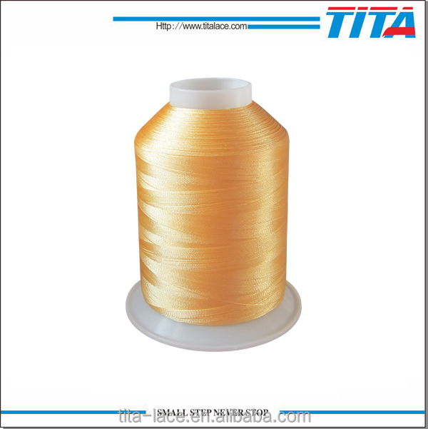 Shiny low price polyester embroidery thread 5000m filament