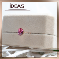 Jewelry finding luxury ruby red ring sliver jewelry design