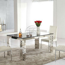 High Quality Marbel Top Metal Frame Dining Table,Modern Dining Furniture,Adjustable Dining Sets BD862