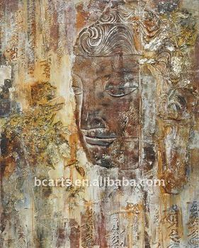 High quality hand-painted buddha oil painting on canvas