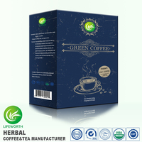 Lifeworth Lifeworth 2017 new arrival instant 3 in 1 bio herbs green coffee with free sample