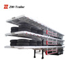 2 axle 40ft /20ft flatbed container transportation truck semi trailer / semitrailer / container flatbed or skeleton semi-trailer