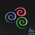 Fancy body piercing jewelry new style acrylic ear spirals expander