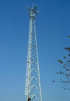 High quality polygon single steel tube communication tower