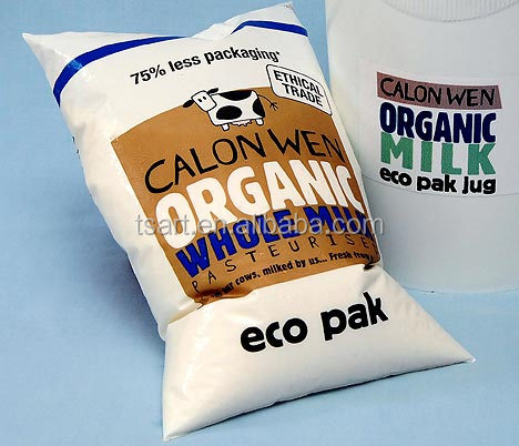 Recyclable milk packaging plastic bag