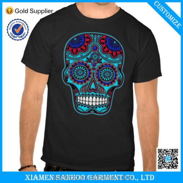 Hot Sale New Design 100 Cotton Screen Printing Stock 2016 Custom T-Shirt With Your Own Logo And Colors
