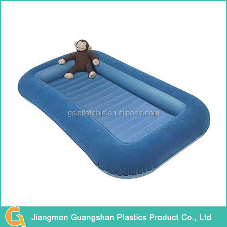 living room portable flocking inflatable kid bed with bed rail