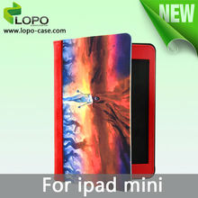 2014 new trendy sublimation leather case for ipad mini