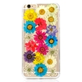 Transparent Real Flowers Specimen Soft TPU Back Case for iPhone 6/ 6S