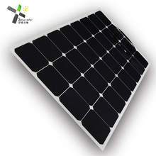 Free sample factory poly silicon 100 watts pv semi flexible solar panel rv with high quality