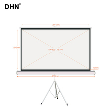 Black projection screen fabric outdoor tripod projector screen board