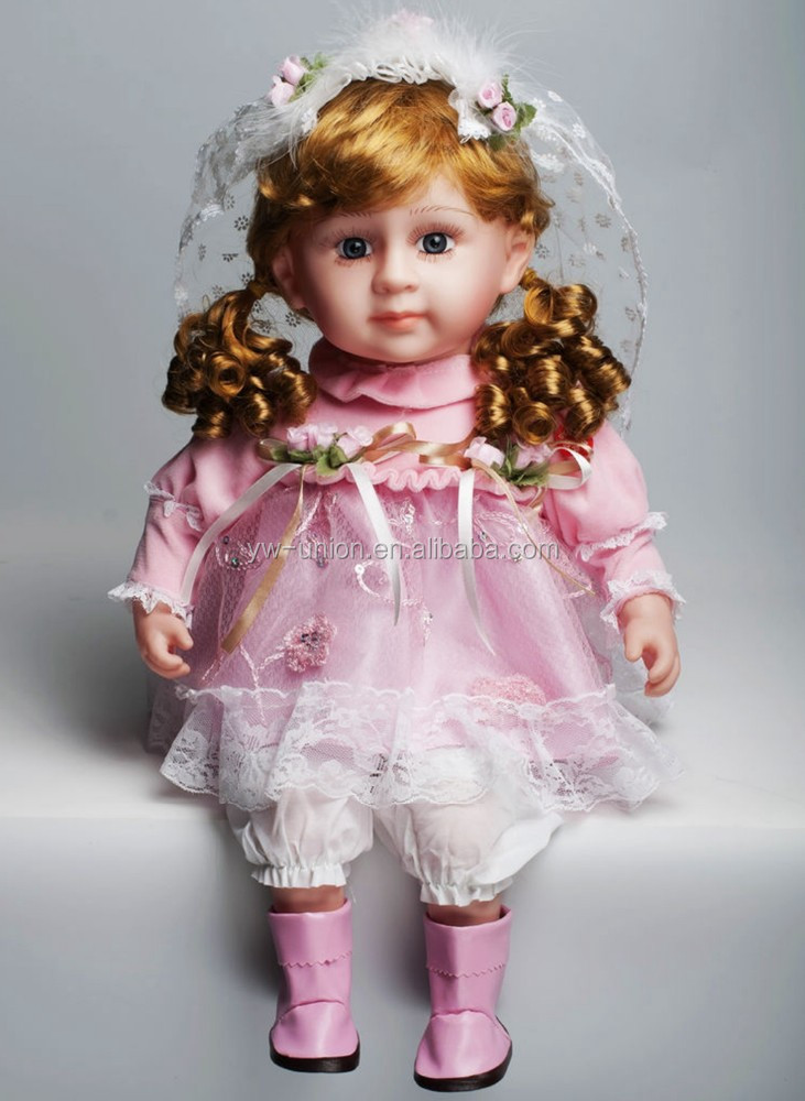 black porcelain dolls / new design beautiful christmas porcelain dolls