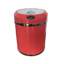 recycling bin plastic indoor rock soil concrete and wood waste bin