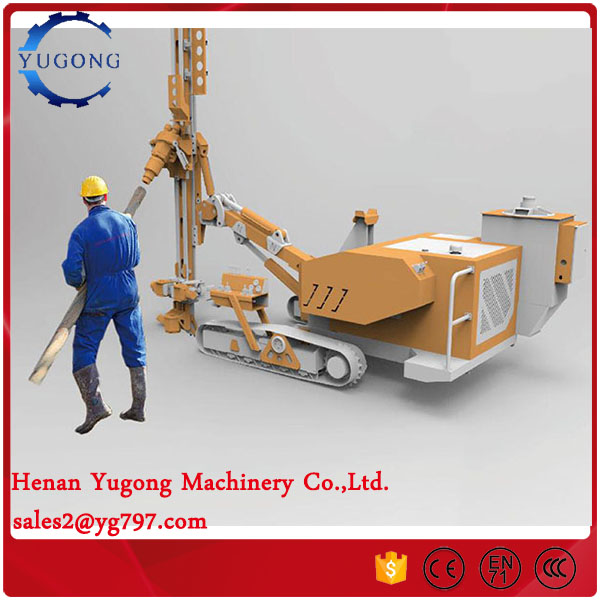 YG-420A crawler mounted rock drilling rig for Asia market with air compressor
