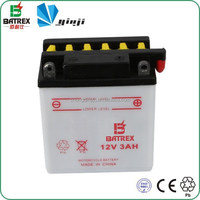 Motorcycle Parts 12V 3Ah Lead Acid Battery Motorcycle In Guangzhou Market