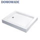 White solid surface quartz artificial stone solid deep shower base