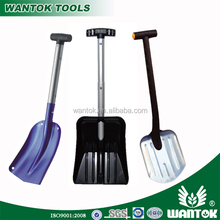 American collapsable snow shovel with aluminium handle and comfortable T shape grip