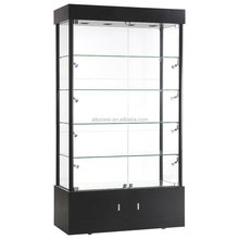 Lockable laminate display showcase with ultra clear tempered glass DC09